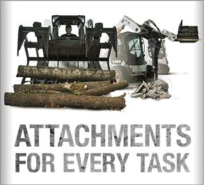 Promo for Bobcat M2-loader attachments.