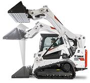 Bobcat compact track loader with vertical lift path