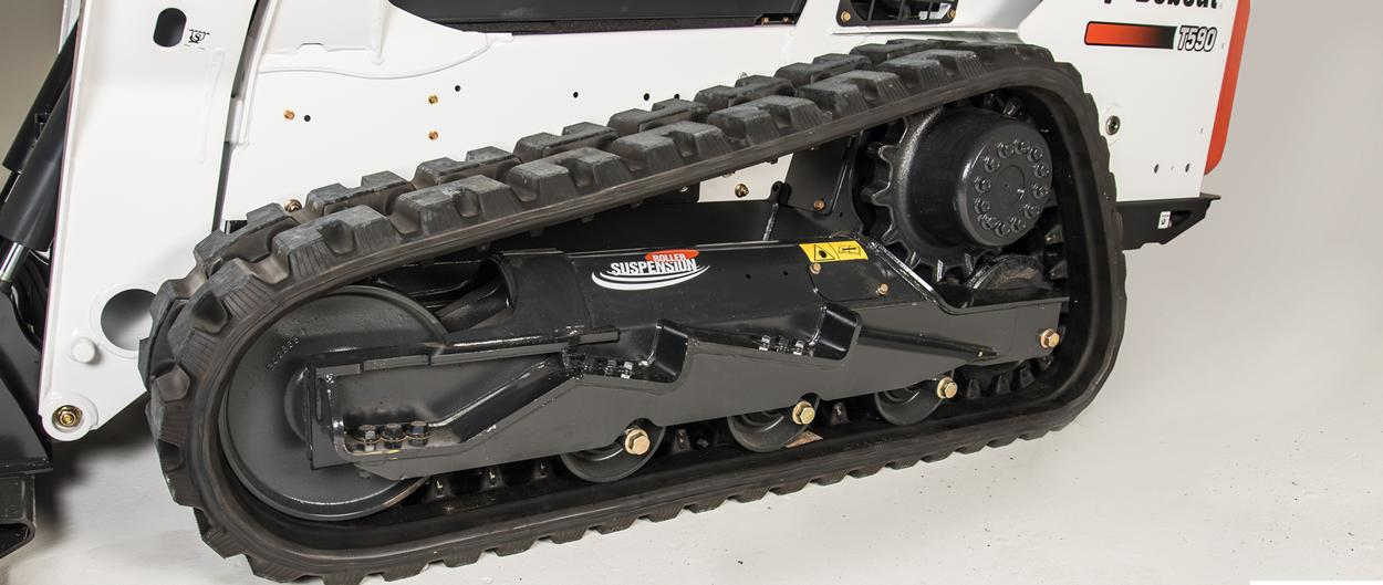 Bobcat compact track loaders with Roller Suspension System.