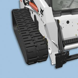 Bobcat compact track loader with wide track option