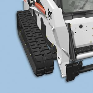 Bobcat compact track loader with narrow track option