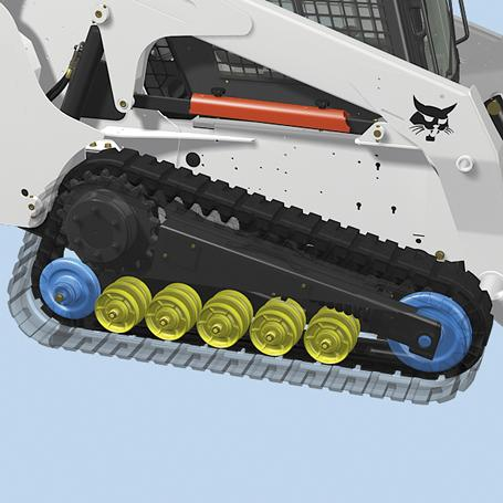 Bobcat compact track loader with standard undercarriage.