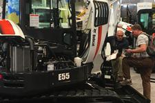 Customer talks with Bobcat product specialist.