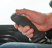 Soft grip joysticks on Bobcat compact excavators (mini excavators).