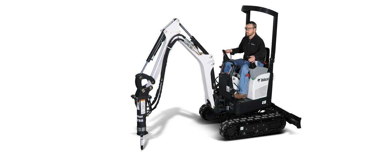 Bobcat 418 compact excavator (mini excavator).