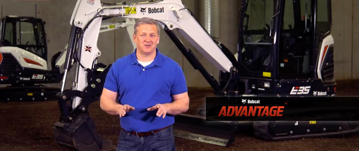 Bobcat Advantage video featuring compact (mini) excavators.