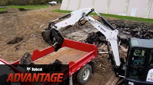 Bobcat compact (mini) excavators extendable arm comparison overview video.