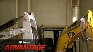 Bobcat compact (mini) excavator hose routing comparison video.