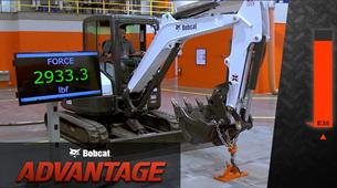 Lifting force video overview for compact (mini) excavators