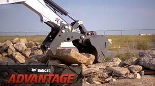 Bobcat compact (mini) excavators Pro Clamp system comparison video.