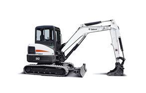 Bobcat compact excavator (mini excavator).