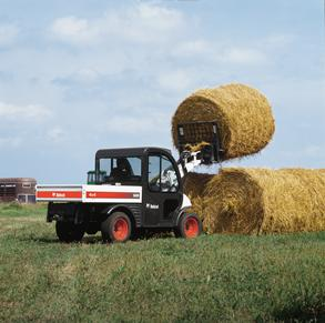 Toolcat with bale fork attachment