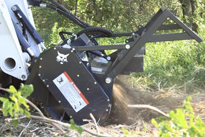 Bobcat 70-inch forestry cutter close-up