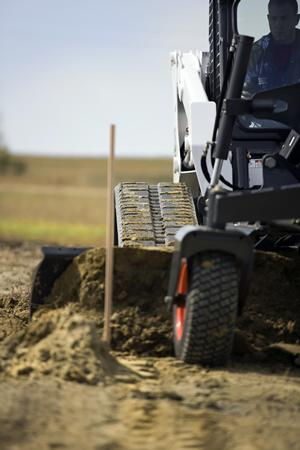 Bobcat grader equipment create a precise grade on your worksite.
