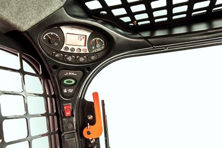 Left panel display on Bobcat compact track and skid-steer loaders.