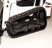 Faster cleanout on Bobcat Roller Suspension System.