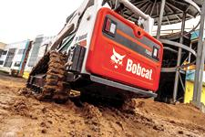 Tailgate on Bobcat T595 compact track loader.
