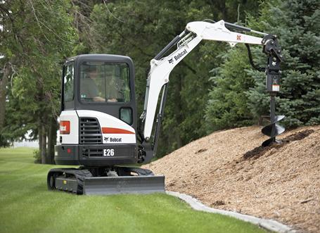Bobcat E26 compact excavator (mini excavator).