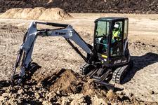 Bobcat E35 compact (mini) excavator and angle blade.