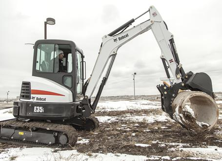 Bobcat E35i compact excavator (mini excavator).