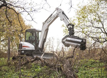 Bobcat E45 compact excavator (mini excavator).