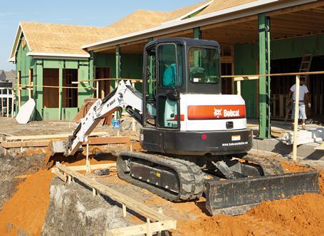 Bobcat E50 compact excavator (mini excavator).