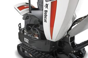 Bobcat compact excavator (mini excavator) side-access hoood.