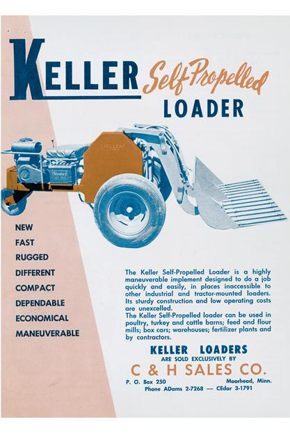 keller self propelled loader ad