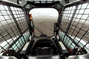 Compact track loader interior
