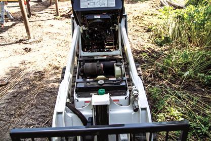 Bobcat MT85 mini track loader with Tier 4 diesel engine.