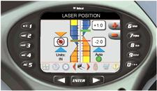 Deluxe instrumentation displaying laser grader attachment control.