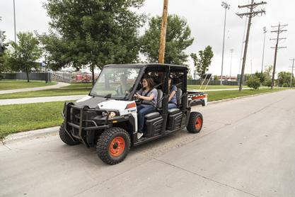 Bobcat 3400XL UTV drives on a public roadway.