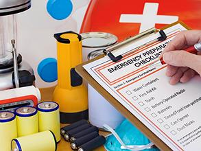Emergency disaster checklist and emergency supplies