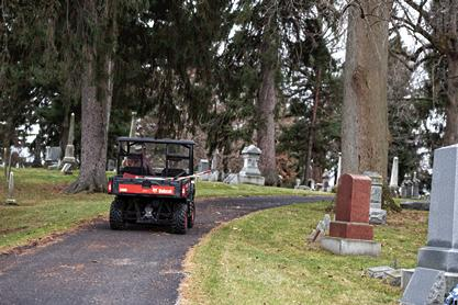 Bobcat UTV Handles Maintenance Tasks at Ohio Cemetery