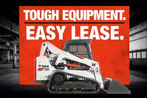 Bobcat T650 compact track loader promotion with Tough Equipment. Easy Lease.