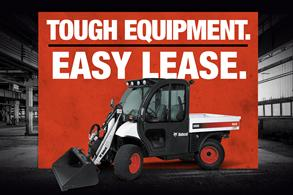 Toolcat utility work machine leasing offer badge.