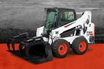 Leasing badge with Bobcat S595 skid-steer loader.