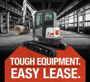 Bobcat E35i excavator in a leasing promotion