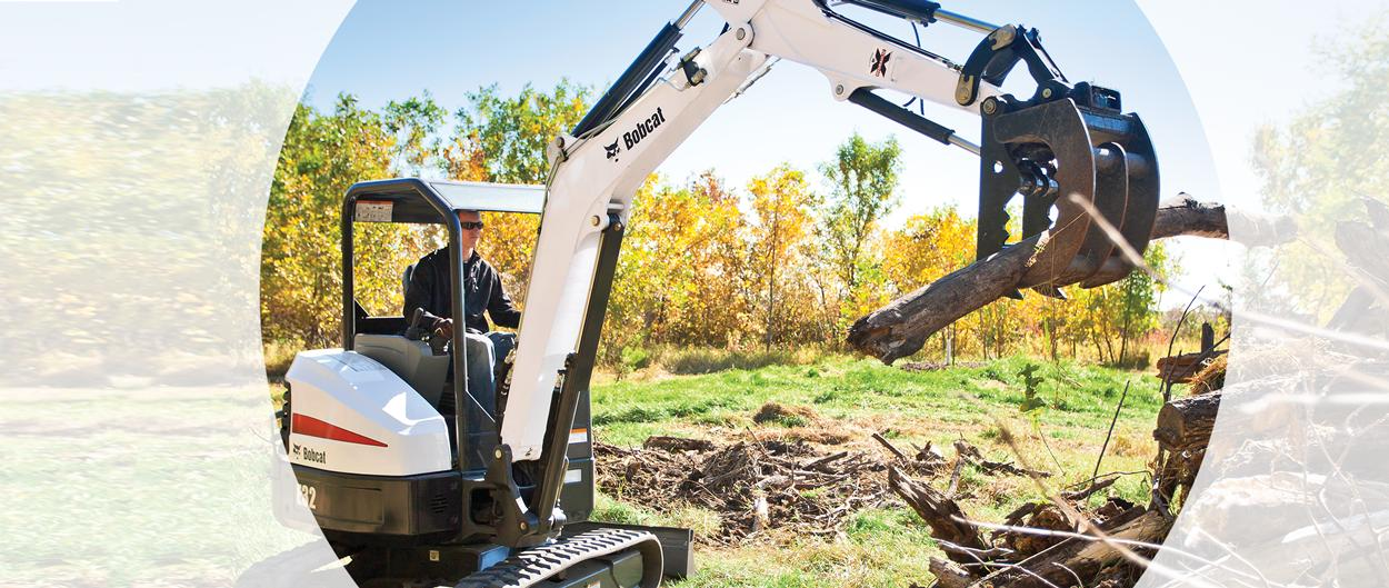 Bobcat fall financing rates and rebates for compact excavators plus free Bobcat driveline warranty offers.