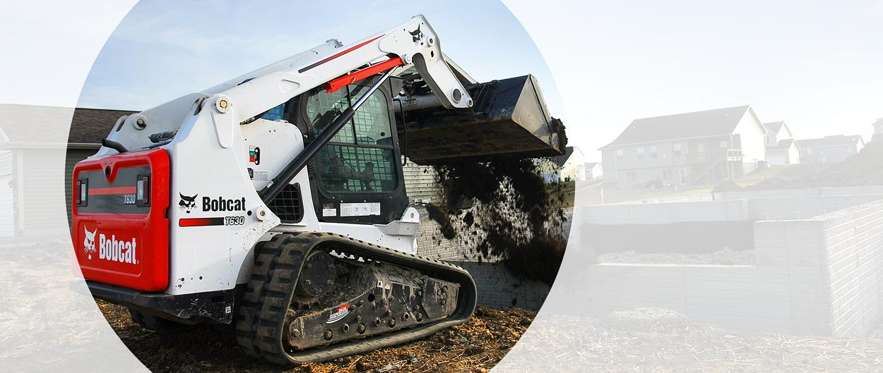Bobcat T630 compact track loader with Roller Suspension system.