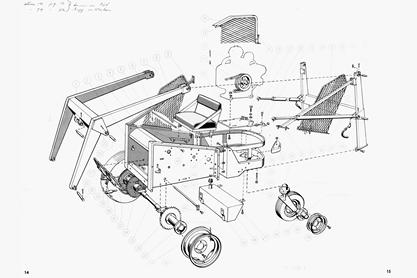 Bobcat (known as Melroe Manufacturing Company) M200 Assembly Drawing.
