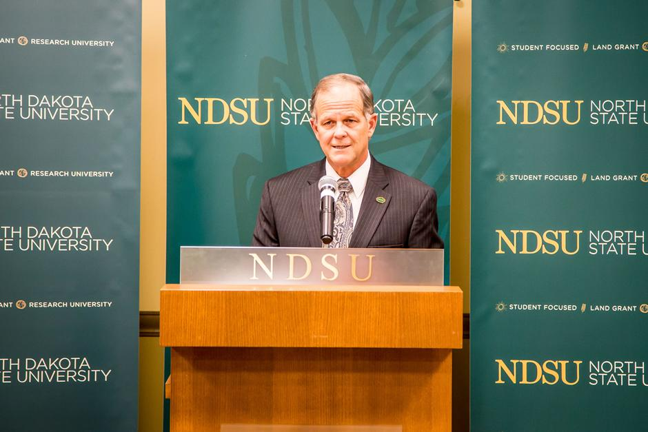 NDSU President Dean Bresciani.