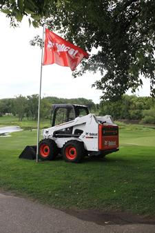 Bobcat loader at Bobcat ND Open tournament, Fargo Country Club.