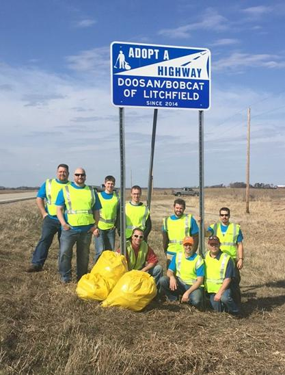 Highway Cleanup in Litchfield, MN