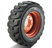 Bobcat skid-steer loader tires for heavy duty.