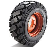Bobcat skid-steer loader tires for severe duty.