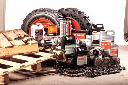 Bobcat genuine tires, fluids, and other genuine parts.