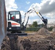 Bobcat compact excavator (mini excavator) with zero tail swing