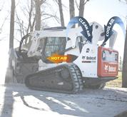 Dual-path cooling system on Bobcat compact track loader.