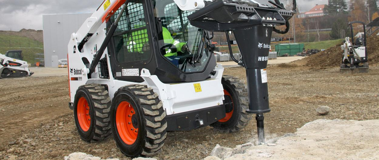 Bobcat S510 skid-steer loader with breaker